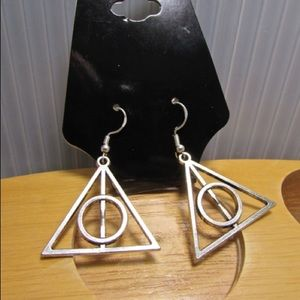NEW! Harry Potter Deathly Hallows Dangle Earrings